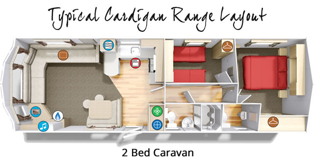 Cardigan 2 Bedroom Static Caravan