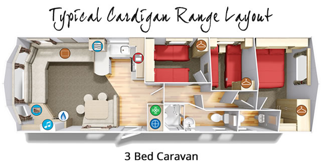 Cardigan 3 Bedroom Static Caravan
