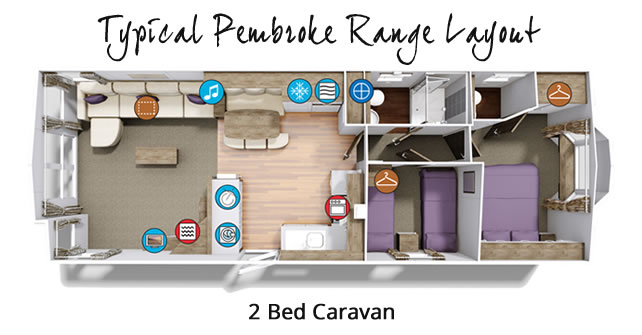 Typical Pembroke 2 Bed Layout