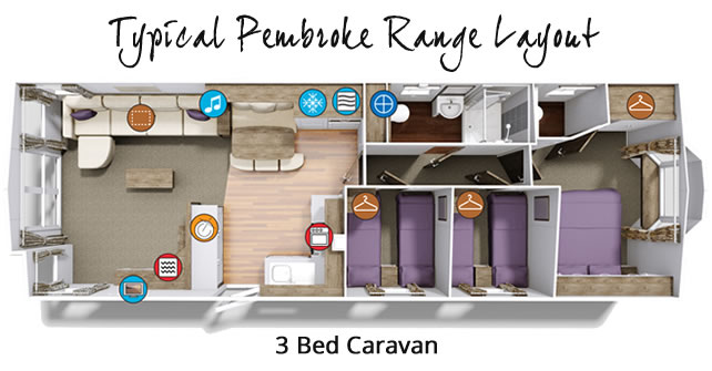 Typical Pembroke 3 Bed Layout